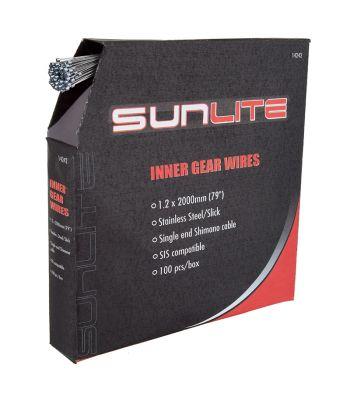 CABLE GEAR SUNLT 1.2x2000 SS SLK SIS BXof100
