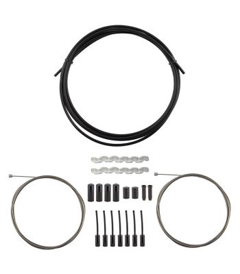 CABLE GEAR OR8 KIT SLICK COMPRESSIONLESS F+R RD/MT BK