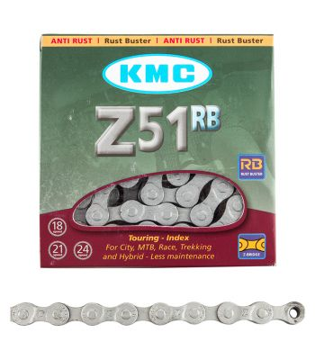 CHAIN KMC Z51 INDEX 6/7/8s RUST BUSTER SL 116L