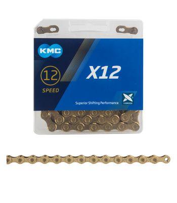 CHAIN KMC X12 12s Ti-N GD 126L