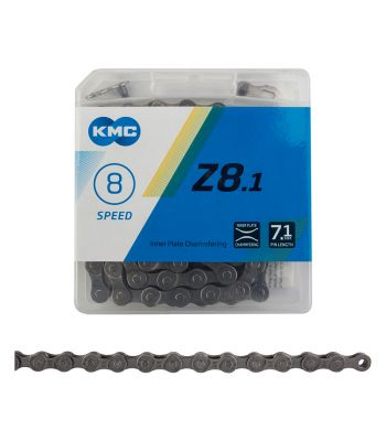 CHAIN KMC Z8.1 INDEX 8s GY/GY 116L