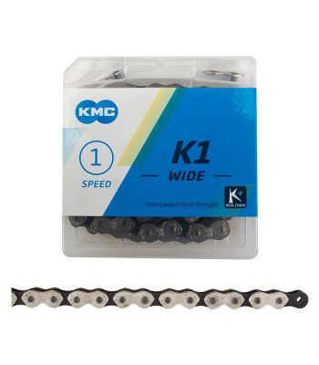 CHAIN KMC 1/2x1/8 K1 WIDE 1s SL/SL 112L