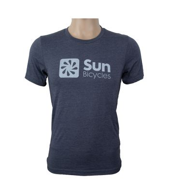 CLOTHING T-SHIRT SUN LOGO UNISEX SM HEATHER NAVY