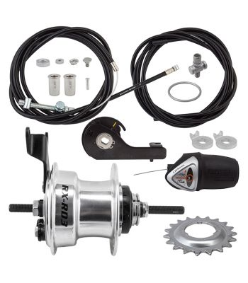 HUB RR S/A 3sp RXRD3 DRUM 70mm 36 SL w/TRIM KIT/TWIST-SHIFTER TSC34 185/135mm 18T ROTARY