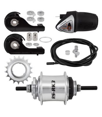 HUB RR S/A 3sp RSRK3 36 6B SL w/TRIM KIT/TWIST-SHIFTER TSC30 185/135mm ROTARY