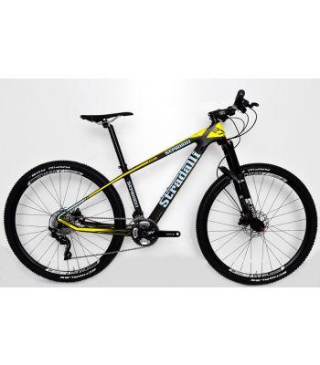 Stradalli Blue/Yellow Full Carbon Fiber Hardtail Mountain Bike. 27.5