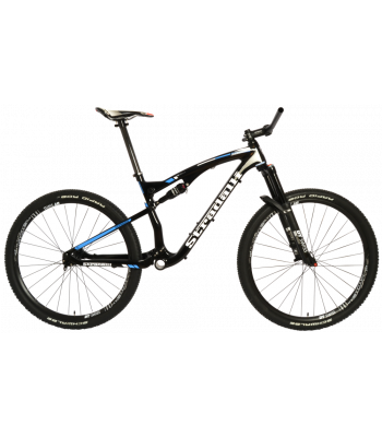 Stradalli Cycle Full Carbon Fiber TWO 7 Pro Blue Edition Full Suspension Mountain Bike Frameset. DT Swiss Suspension and Wheelset Kit.