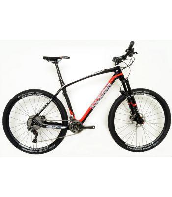 Stradalli Red 20 Seven Full Carbon Fiber Hardtail Mountain Bike. 27.5