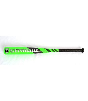 Stradalli 100% Carbon Fiber Baseball Bat Youth Green 17Oz