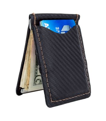 BAG LIZARD WALLET CARBON LEATHER BK