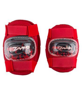 PAD SET KIDZAMO ELBOW/KNEE FLAME RD/BK