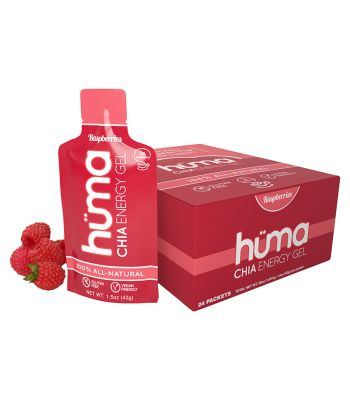 FOOD HUMA CHIA ENERGY GEL RASPBERRY BXof24