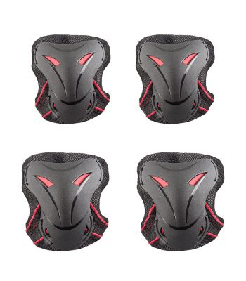 PAD SET KIDZAMO ELBOW/KNEE HD YOUTH SM RD/BK