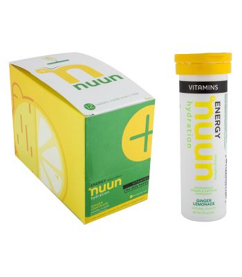 FOOD NUUN ELECTROLYTE VITAMINS GINGER LEMONAIDE w/CAFFEINE BXof8