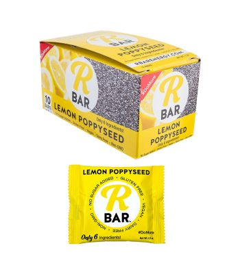 FOOD RBAR BAR LEMON POPPYSEED BXof10 1.6oz