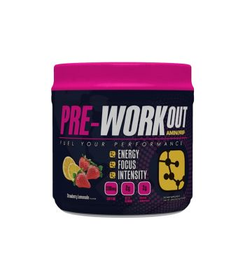 FOOD AMINORIP PRE-WORKOUT STRAWBERRY LEMONADE 420g 30 SERVINGS