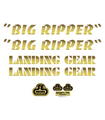 DECALS SE BIKES SET BIG RIPPER GD