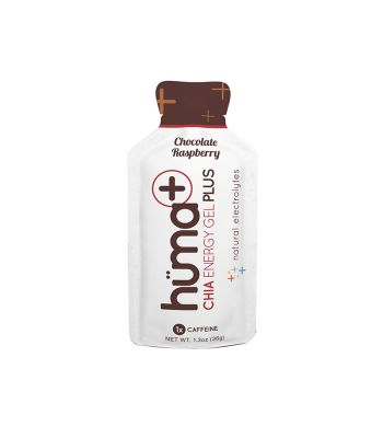 FOOD HUMA CHIA ENERGY GEL PLUS CHOCOLATE/RASPBERRY BXof24