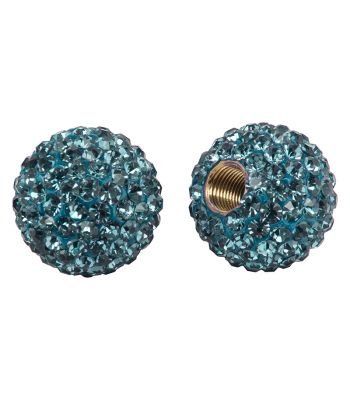 VALVE CAPS C-CANDY BLING AQUAMARINE