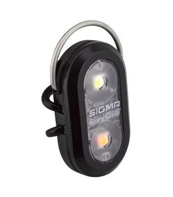 LIGHT SIGMA MICRO DUO RD/WH FLASHER FRTorRR BK