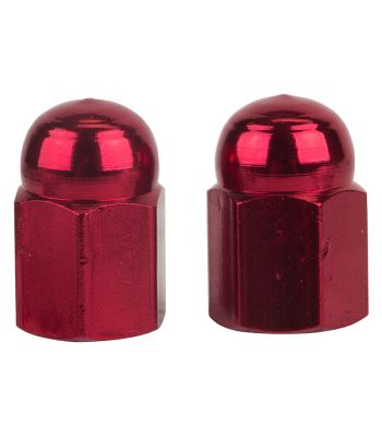 VALVE CAPS TRICKTOPZ HEX DOME RED 1pr/PK