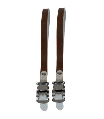 TOE STRAPS SUNLT RD LEATHER BRN