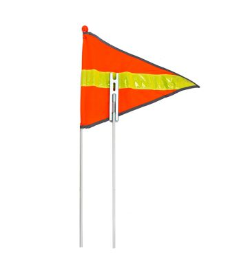SAFETY FLAGS 2pc SUNLT 72in REFLECTIVE