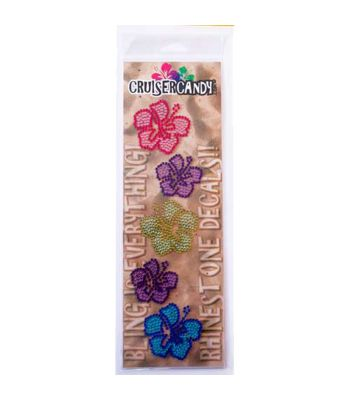 DECALS C-CANDY RHINESTONE HIBISCUS FLOWERS