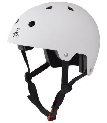 HELMET TRIPLE8 BRAIN SVR SKATE/BIKE LG-XL WHT