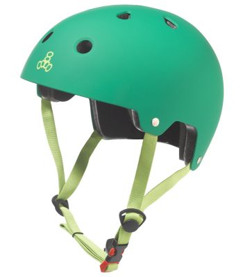 HELMET TRIPLE8 BRAIN SVR SKATE/BIKE LG-XL GRN