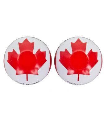 VALVE CAPS TRICKTOPZ FLAG CANADA 1pr/PK