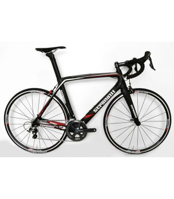 Stradalli AR7 Black Team Full Carbon Aero Road Bicycle Shimano Ultegra 8000 11 Speed. Vision T24 Aluminum Clincher Wheelset.
