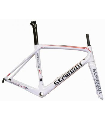 Stradalli AR7 White Team Full Carbon Fiber Aero Road Bicycle Racing Frameset