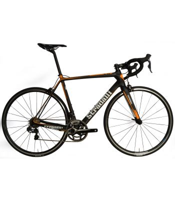 Stradalli RS Orange Full Carbon Road Bike. Shimano Ultegra 8050 Di2 11 Speed. Vision Team 25 Alloy Clincher Wheelset.