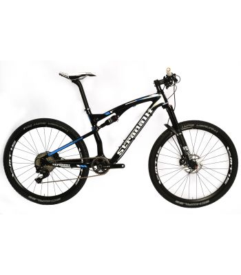 Stradalli Two 7 Blue Edition. Full Carbon Fiber Dual Suspension Cross Country XC Mountain Bike. 27.5