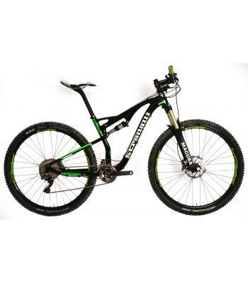 Stradalli 29er Green Edition Full Carbon Fiber Dual Suspension Trail MTB Mountain Bike. Shimano XTR 9000. Magura TS8 Suspension. Stans ZTR Arch Green Wheelset.
