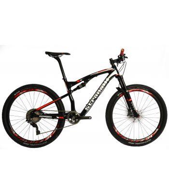 Stradalli Two 7 Black Pro Edition Full Carbon Fiber Dual Suspension Mountain Bike. 27.5