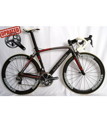 Stradalli Aero 7 Full Carbon Road Bicycle Shimano Dura Ace Di2 9150 11 Speed. Stradalli 50mm White Carbon Clincher Wheel set.