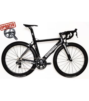 Stradalli Faenza Black / Silver Full Carbon Aero Road Bike. Shimano Ultegra Di2 8150 11 Speed. Stradalli Full Carbon Clincher 50mm Wheelset.