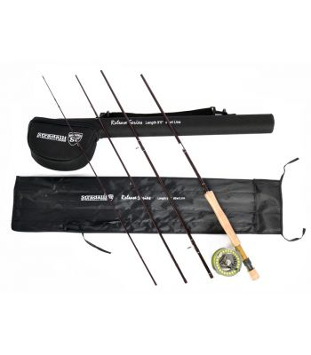 Stradalli Release Series 9' Long, 4 Piece Fast Action Fly Fishing Rod 100% Carbon Fiber Billet Reel Combo