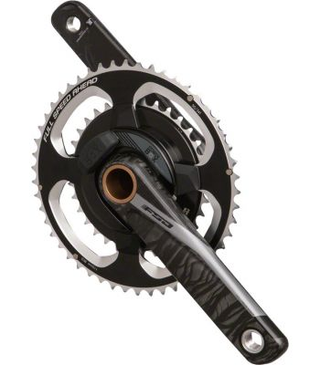 FSA Power Box Road Triathlon TT Black UD Carbon Fiber Power Meter Crankset BB386 EVO