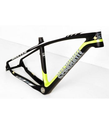 Stradalli 20 Seven Full Carbon Fiber Mountain Bike Frame. 27.5'' MTB 650b Black/Green