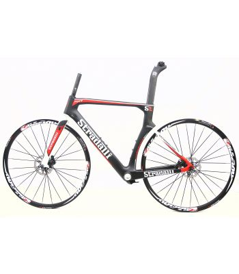 Stradalli Carbon RD17 Rim to Mechanical Disc Brake Bicycle Chassis Conversion Kit. Vision Team30 Disc Clincher Wheelset.