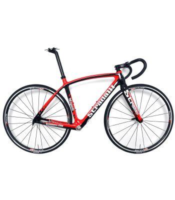 Stradalli Napoli Full Carbon Road Bike Kit with FSA Omega Handlebar, OS-190 Stem and Vision T25 Team Aluminum Clinchers.