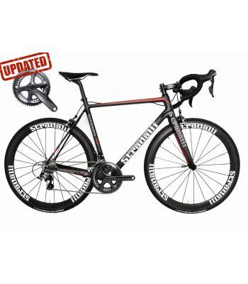 R7 Full Carbon Road Bike. Shimano Ultegra 8000 11 Speed. Stradalli Carbon Clincher 50mm White Wheelset