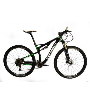 Stradalli 29er Green Edition Full Carbon Fiber Dual Suspension Cross Country XC Mountain Bike. Shimano XT M8000 11 Speed. X Fusion Suspension. DT Swiss LTD Tubeless Ready Wheelset.