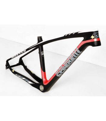 Stradalli 20 Seven Full Carbon Fiber Mountain Bike Frame. 27.5'' MTB 650b Black/Red