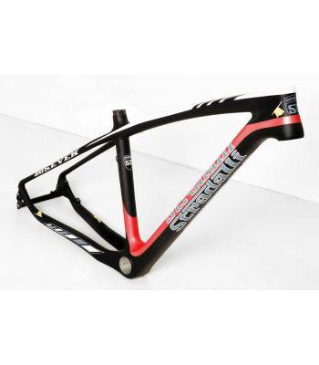 Stradalli 20 Seven Full Carbon Fiber Mountain Bike Frame. 27.5'' MTB 650b Black/Red