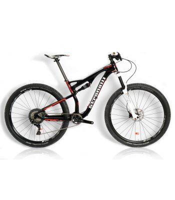 Stradalli 29er Black/Red Carbon Dual Suspension Trail Mountain Bike Shimano XT DT-Swiss Wheel Set