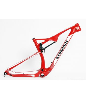 Stradalli 29er Red Edition Full Carbon Dual Suspension Cross Country XC Mountain Bike Frame.